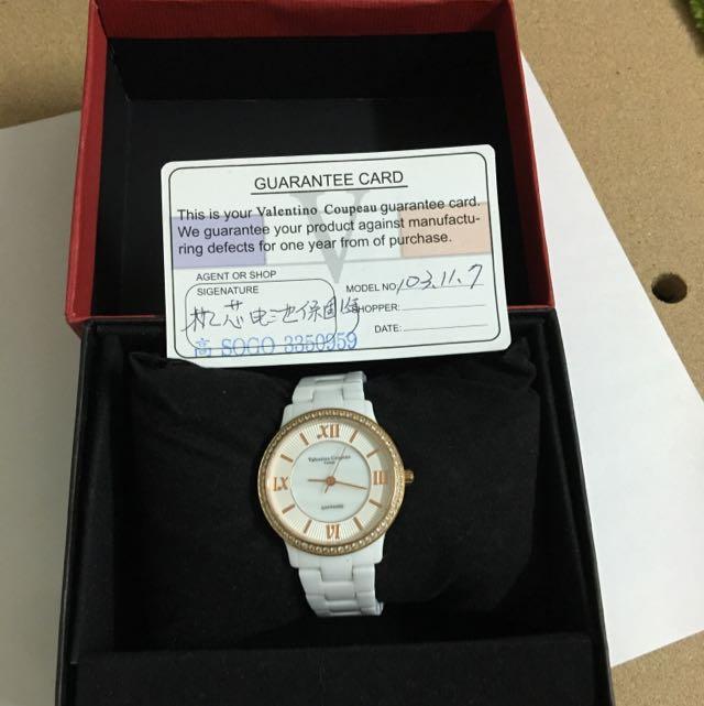 白色陶瓷手錶
