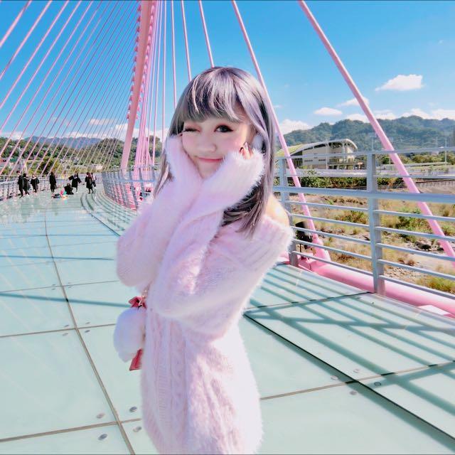 粉色海毛針織上衣 原價880