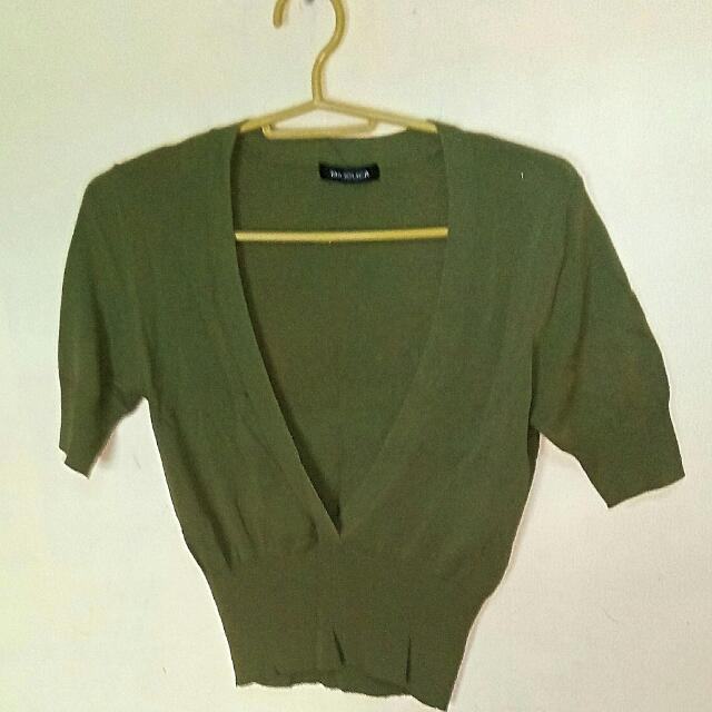 🍀RESERVED🍀Olive Green Top