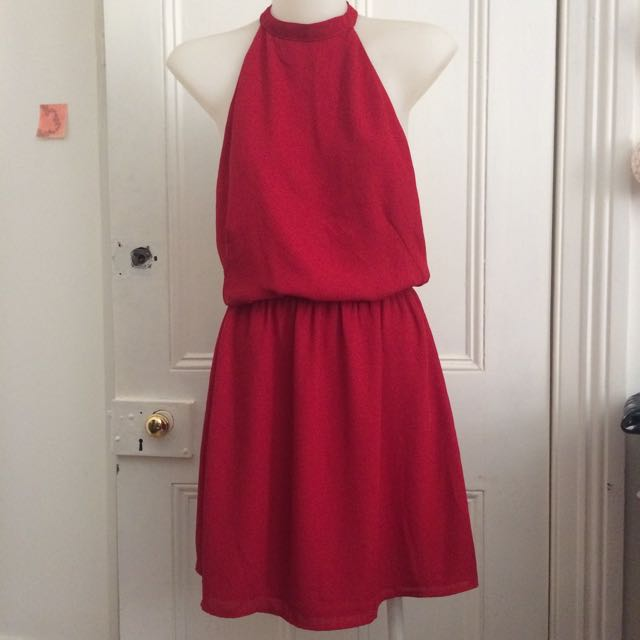 Alice In The Eve Red Open Back Dress
