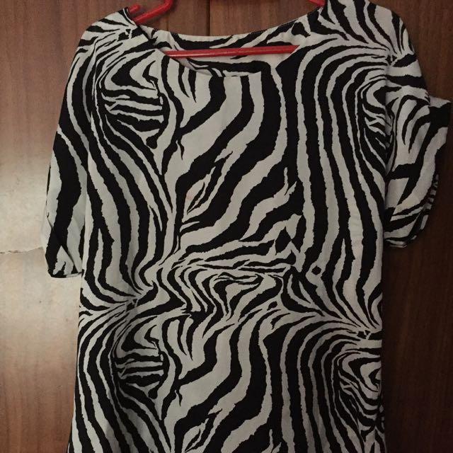 Atasan Lengan Zebra
