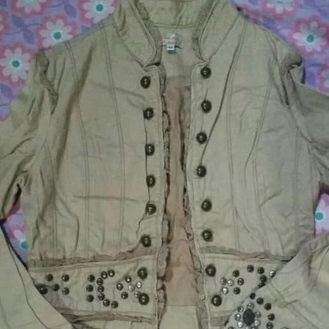 Beige Studded Jacket