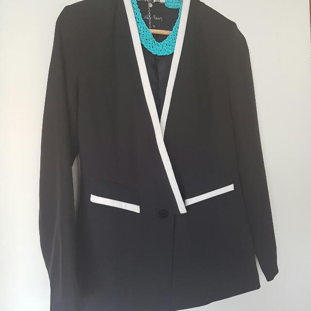 Black Formal Treny Look Blazer & Jacket