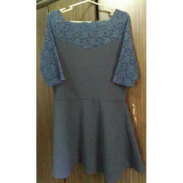 Blue Dress (Lace Sleeves)