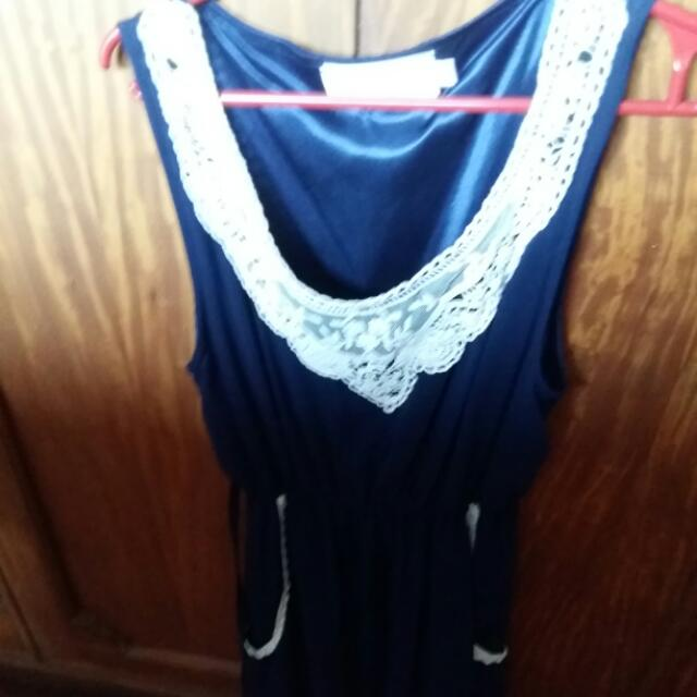 Blue Dress With Laced Edges Bought In London