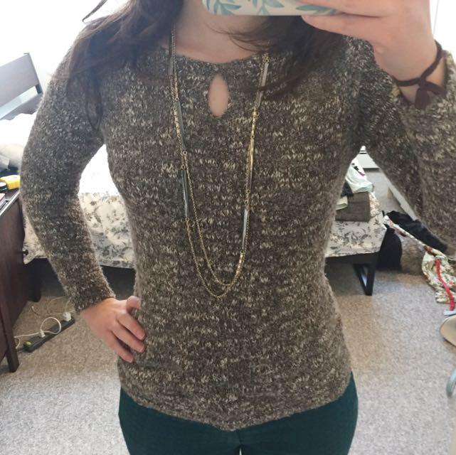 Brown Gold Wool Sweater