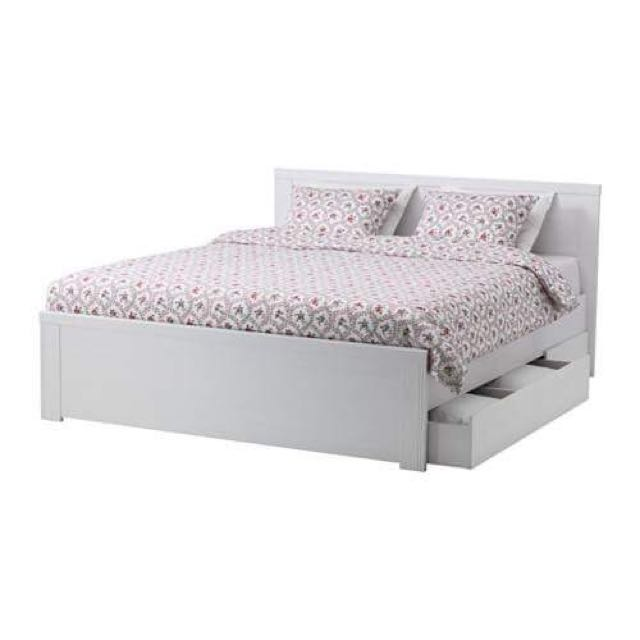 Brusali bedframe With 4 Large Storages