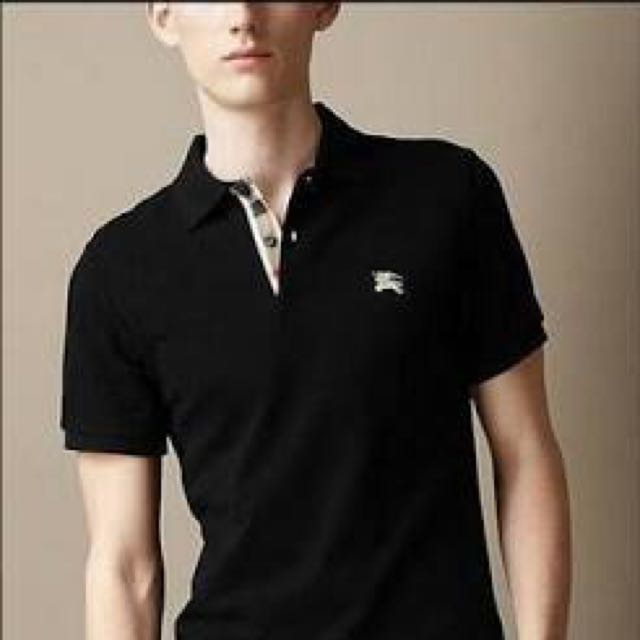 Burberry Black Polo Men