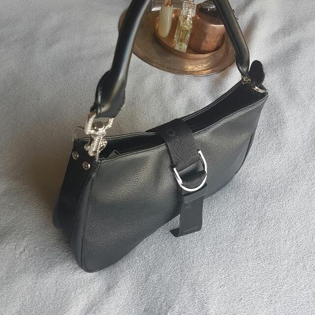 CD Leather Evening Bag