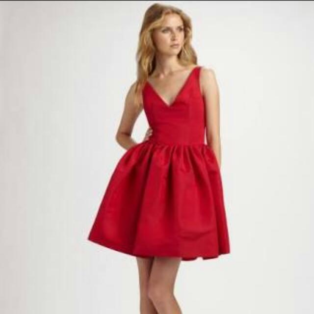 "Chloe & Reese (Size 2) Silk Faille V-Neck Party Dress **seen on ""Lilly"" - How I Met Your Mother**"
