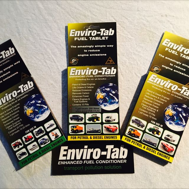 Enviro-Tab DECREASE fuel emissions EXTEND engine life YOU save money""