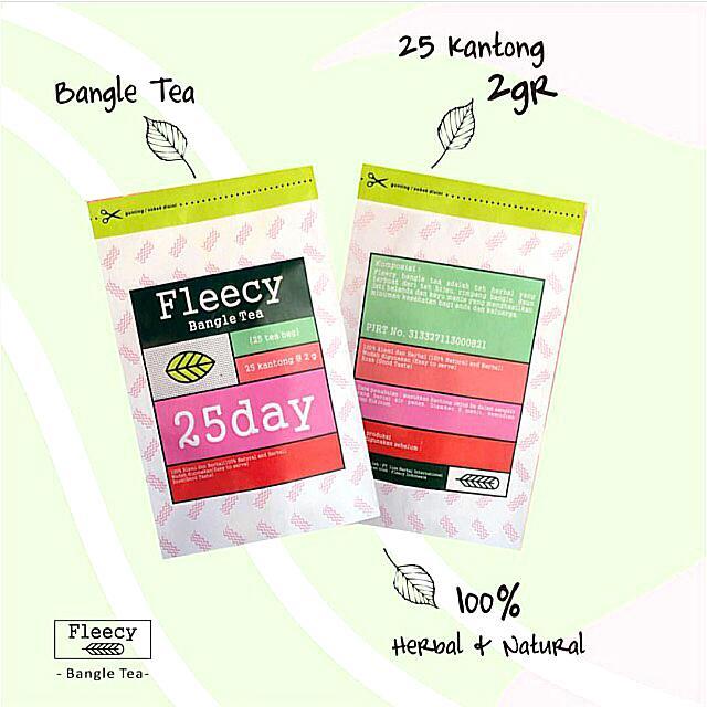 Fleecy Bangle Slimming Tea Teh Kesehatan Pelangsing 100% Original