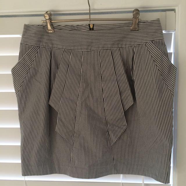 Grey Stripe Tokito Skirt Size 12