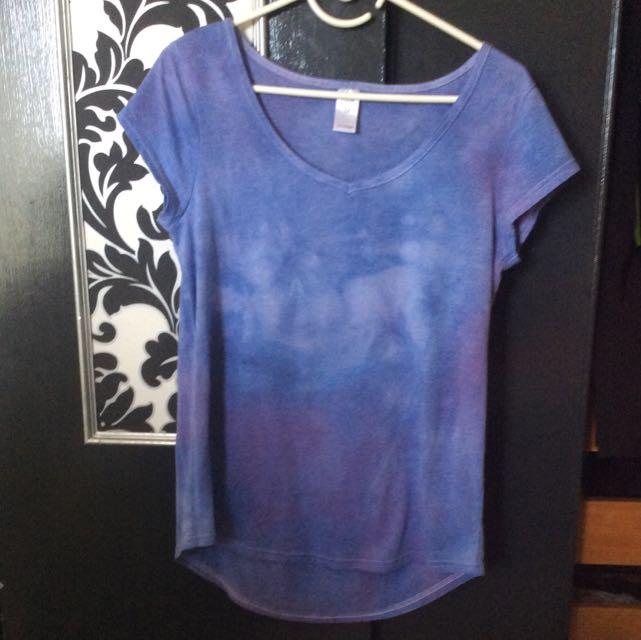 Hand Dyed Purple Tee Shirt