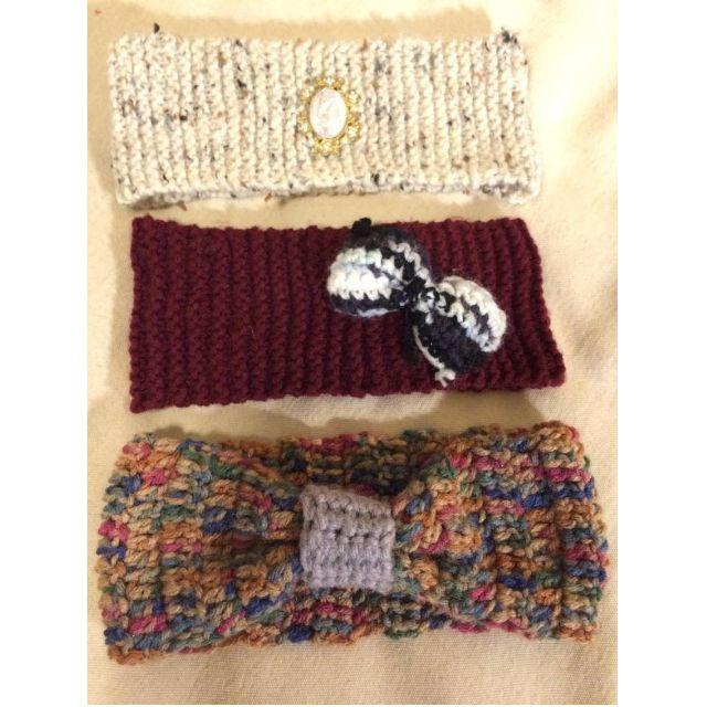 Hand-Knit Winter Headbands