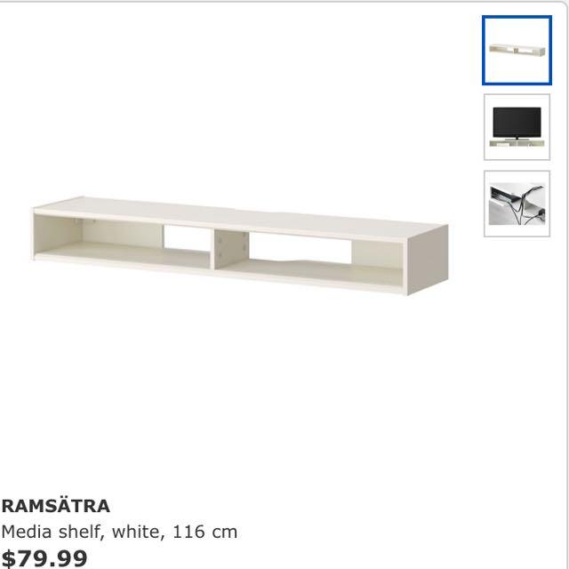 Ikea Ramsatra Media Shelf Reserved Furniture Shelves Drawers On Carou