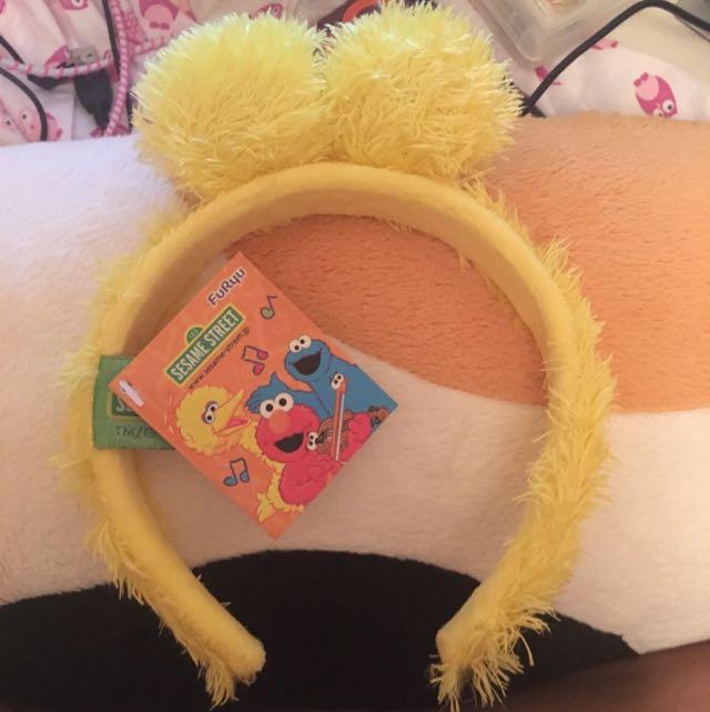 Japanese Rare Sesame Street Headband Yellow Monster Cute