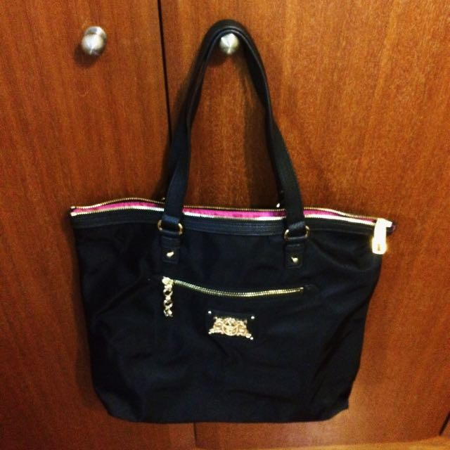 8e243124c Juicy Couture Black Penny Nylon Shoulder Tote Bag, Luxury, Bags ...