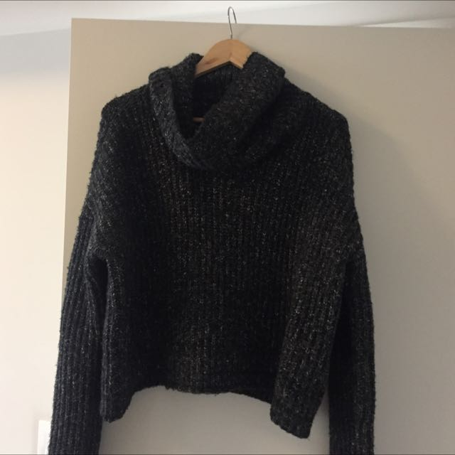 KNIT COWL NECK SWEATER