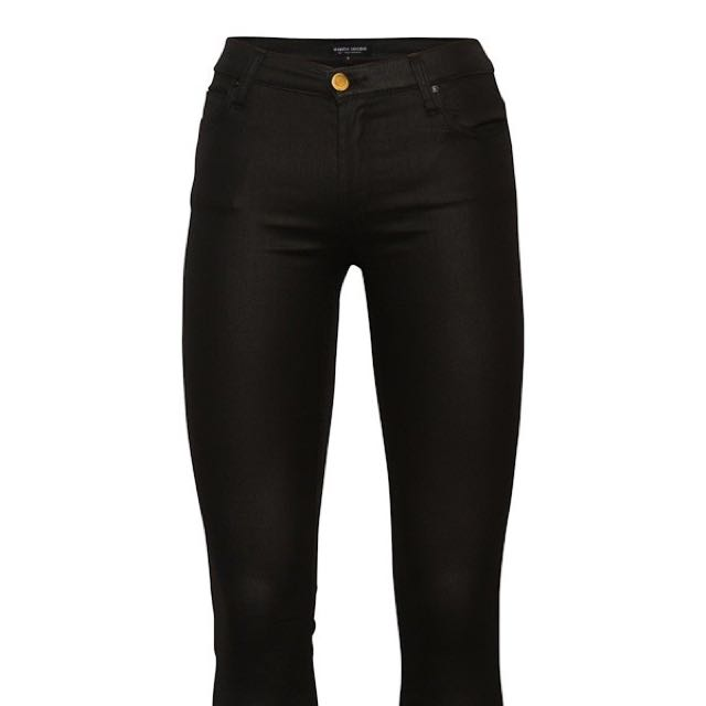 Leather-look Jean