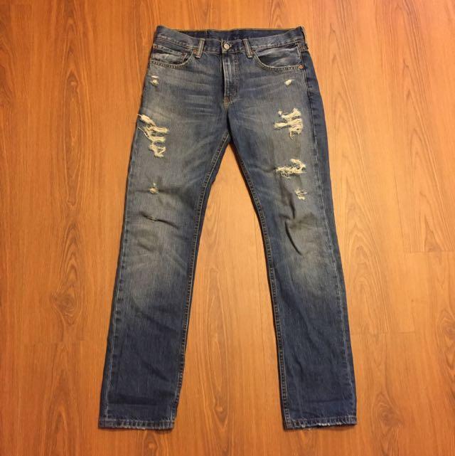 Levis 511 刷色破壞牛仔褲