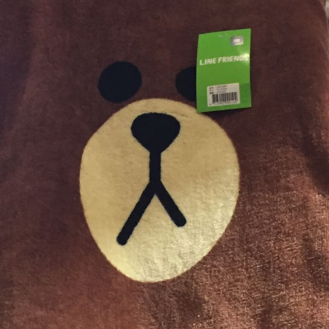 Line 熊大浴巾