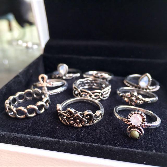 Midi Knuckle Rings (10pcs/set)