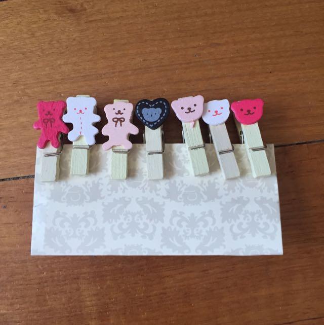 Mini Bear Craft Clips