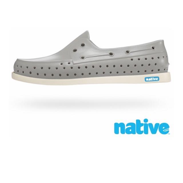native晴雨帆船鞋(鴿子灰x牛奶骨 女)