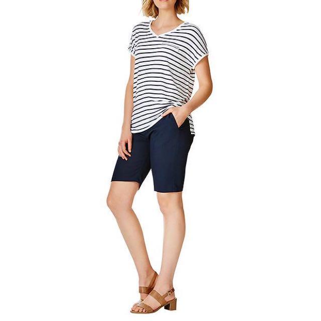 Navy Women's Work Shorts Size 10