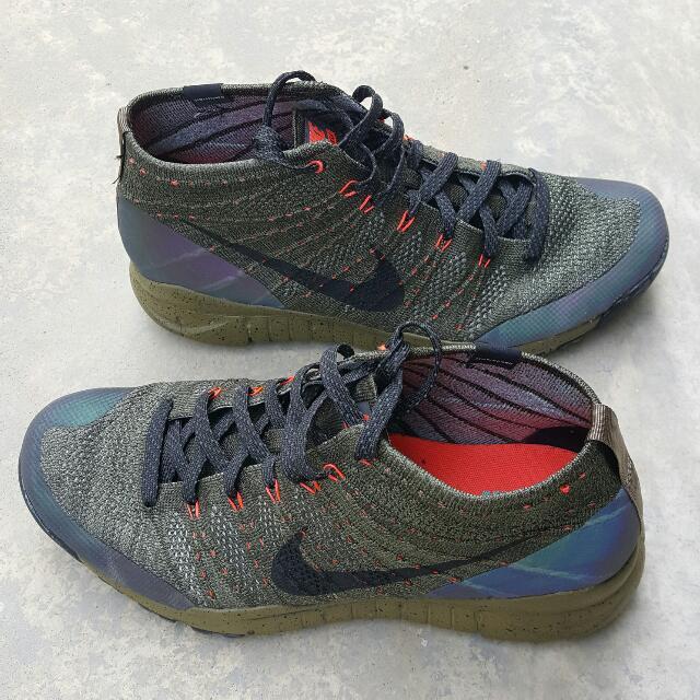 2eadcf8ce4546 Nike Men's Flyknit Trainer Chukka FSB, SEQUOIA/BLACK, Men's Fashion,  Footwear on Carousell