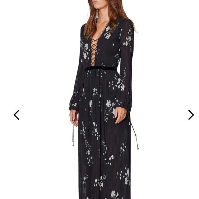 NWT Bec & Bridge Elderflower Tie Up Maxi Dress Size 6 XS