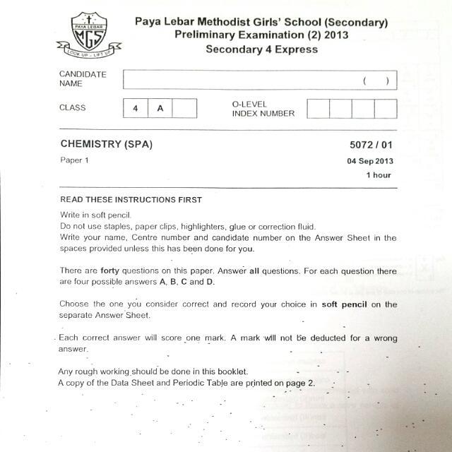 O level pure chem paper 1 and 2 books stationery textbooks on photo photo photo urtaz Images
