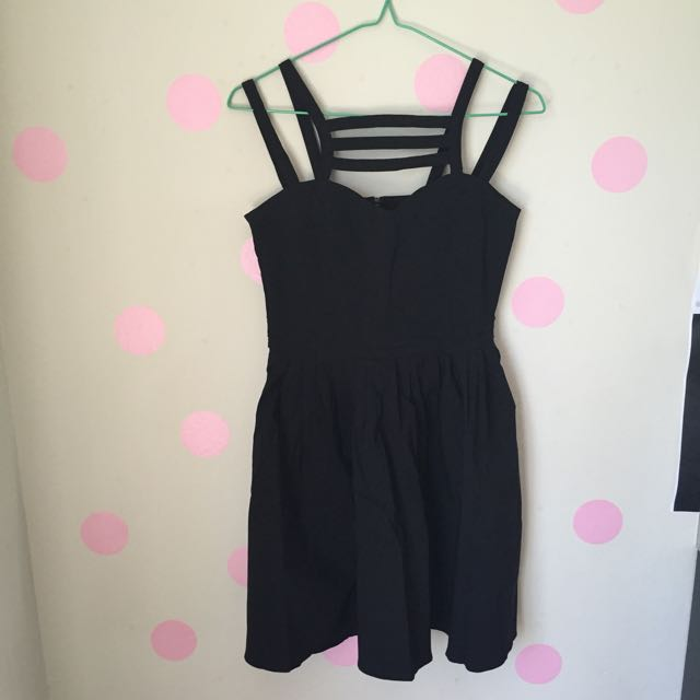 Paper Hearts Black Strappy Dress