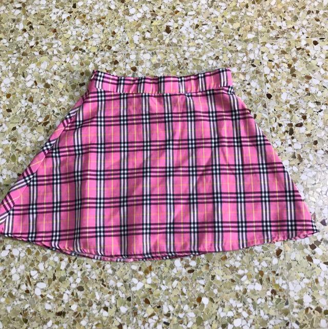 38eb7c7f774 Pink Checkered Schoolgirl Skirt