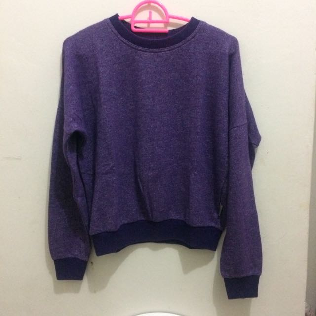Purple Crop Sweater