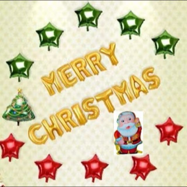 Santa Claus Christmas Tree Theme Party Set Come With Many Free