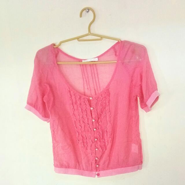 ❤See Through Pink Top ❤