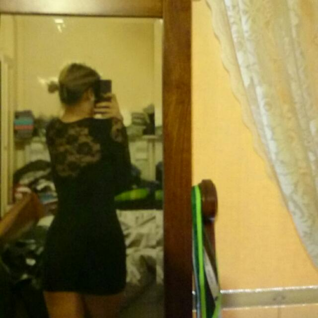 Selling Lace Sleeve And Back Dress