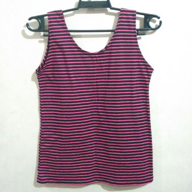 Sleeveless Stripes Top