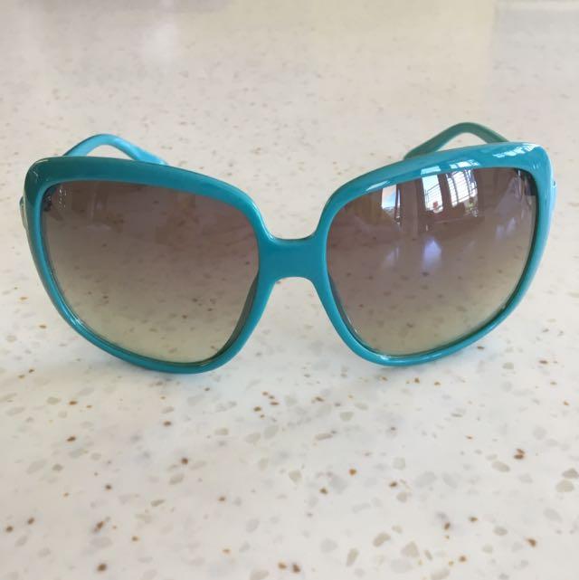 Teal Boxy Sunglasses