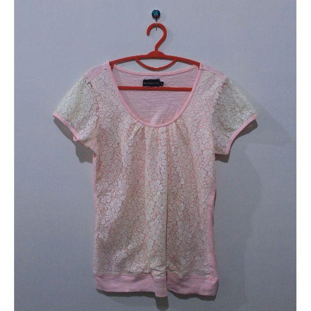 T-shirt Pink Peach brokat The Executive 35k only!