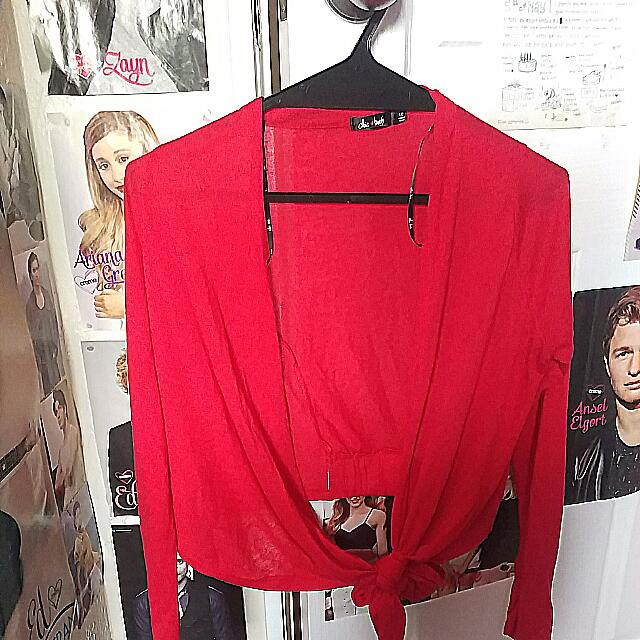 Valley Girl Red Cardigan