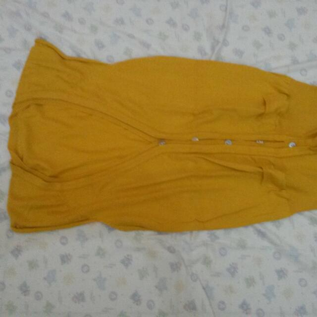 Vest Outer Rajutan Mustard
