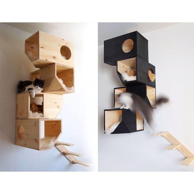 Wall mounted cat furniture / Cat Wall Shelf