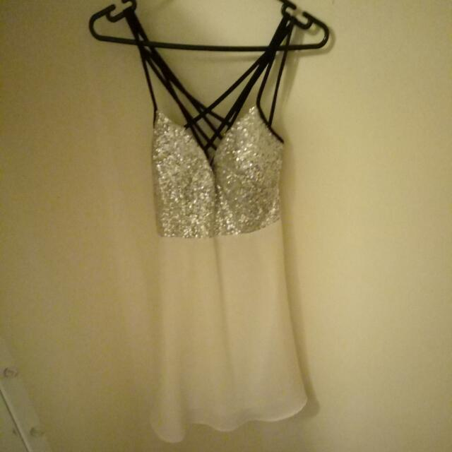 White And Diver Dress