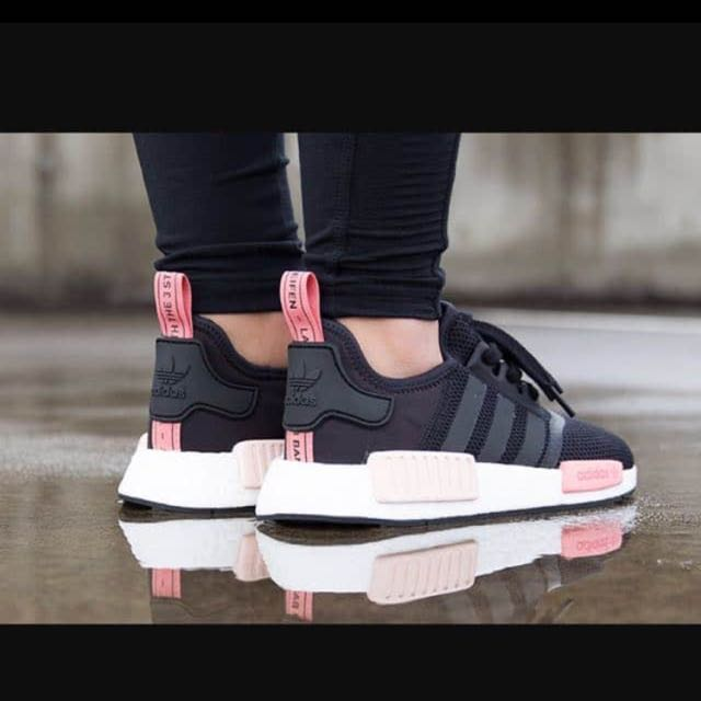 buy online 2b5ae 71e4f WTB  Authentic Adidas NMD R1 PK Core Black Peach Pink, Women s Fashion,  Shoes on Carousell