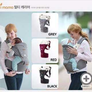 Korea Imama Multifunctional Baby Hip Seat Carrier Front Back