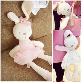 [U-028]韓國垂耳娃娃~卡通軟綿綿兔子娃娃 兔子安撫娃娃