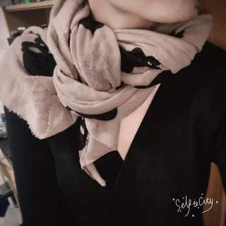 裸色 圍巾